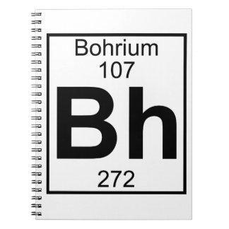 Elemento 107 - BH - Bohrium (lleno) Libreta