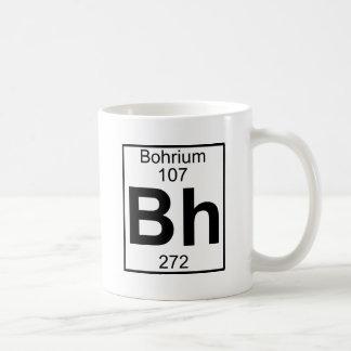 Elemento 107 - BH - Bohrium (lleno) Taza Clásica