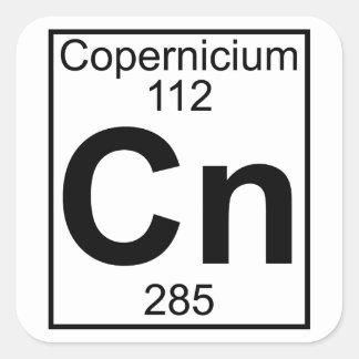 Elemento 112 - NC - Copernicium (lleno) Pegatina Cuadrada