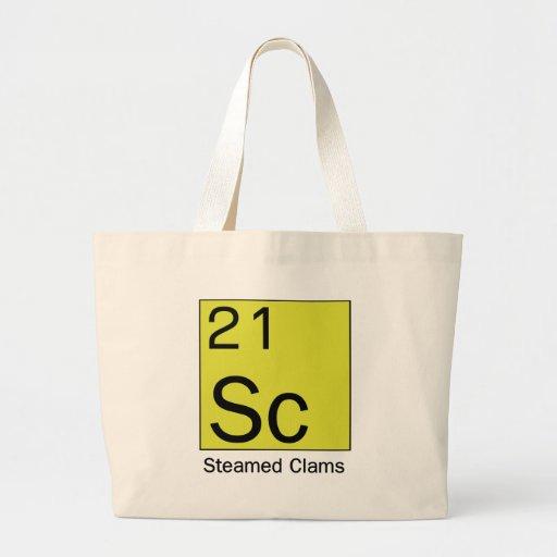 Elemento 21: Almejas cocidas al vapor Bolsa Tela Grande