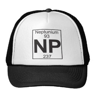 Elemento 93 - NP (neptunio) Gorro De Camionero