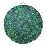 Elemento abstracto azulverde del diseño tablero dardos
