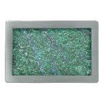 Elemento abstracto azulverde del diseño hebilla cinturón rectangular