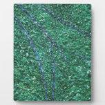 Elemento abstracto azulverde del diseño placas con fotos
