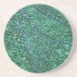 Elemento abstracto azulverde del diseño posavasos personalizados