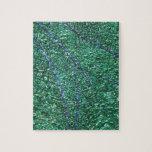 Elemento abstracto azulverde del diseño rompecabezas con fotos
