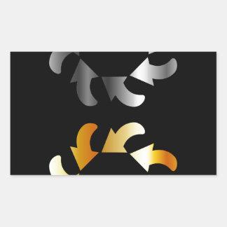 Elemento abstracto del diseño de las flechas pegatina rectangular