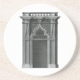 Elemento arquitectónico del vintage, entrada posavasos de arenisca