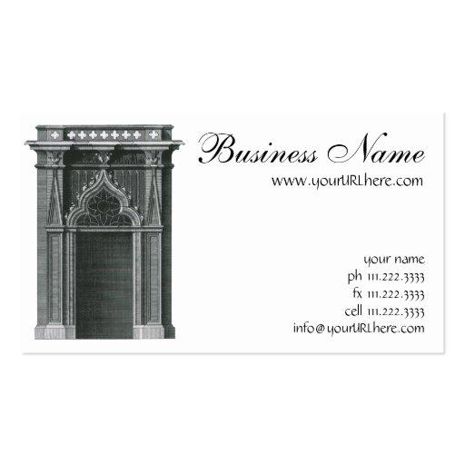 Elemento arquitectónico del vintage, entrada tarjetas de visita
