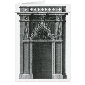 Elemento arquitectónico del vintage, entrada tarjeta de felicitación