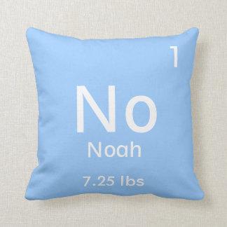 Elemento azul personalizado del bebé cojín