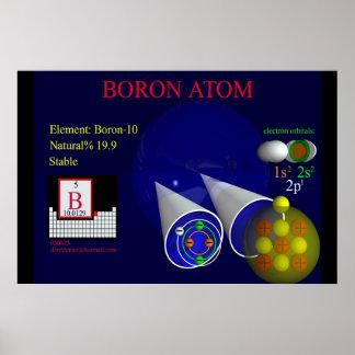 Elemento Boron-10 impresión Impresiones