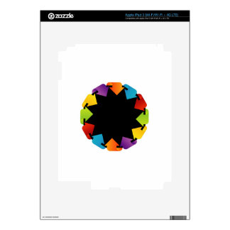 Elemento circular del diseño pegatina skin para iPad 3