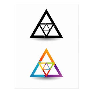 Elemento colorido triangular abstracto del diseño postales