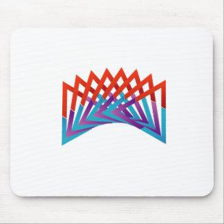 Elemento colorido triangular abstracto del diseño alfombrilla de ratón