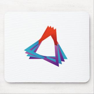 Elemento colorido triangular abstracto del diseño alfombrillas de ratones