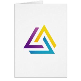 Elemento colorido triangular abstracto del diseño tarjeta de felicitación
