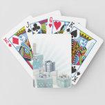 Elemento de la esquina de los regalos del navidad baraja de cartas