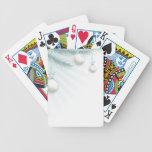 Elemento de la esquina del árbol de navidad barajas de cartas