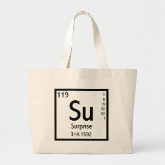 Elemento de la sorpresa bolsa tela grande