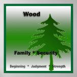 Elemento de madera posters