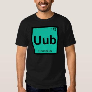Elemento de tabla periódica de la química de Uub - Remeras
