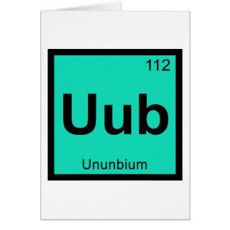 Elemento de tabla periódica de la química de Uub - Tarjeta De Felicitación