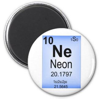 Elemento de tabla periódica de neón imán de frigorífico