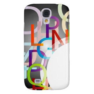 Elemento decorativo del diseño con alfabetos color funda para galaxy s4