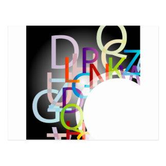 Elemento decorativo del diseño con alfabetos postal