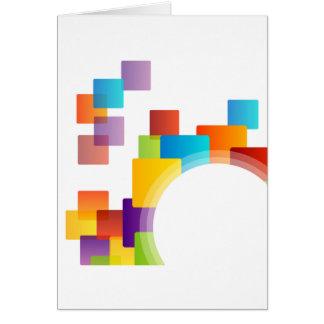 Elemento decorativo del diseño tarjeta de felicitación