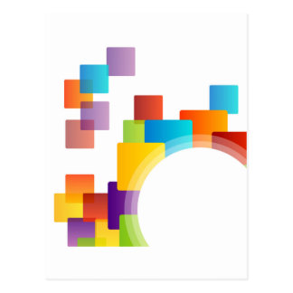 Elemento decorativo del diseño tarjeta postal