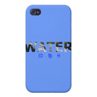 Elemento del agua con las muestras del zodiaco iPhone 4 cárcasa