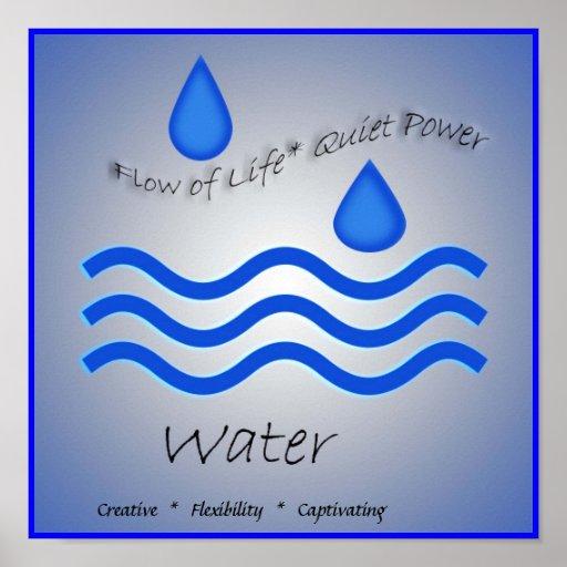 Elemento del agua poster