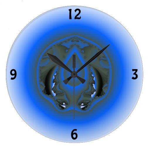 elemento del agua reloj redondo grande