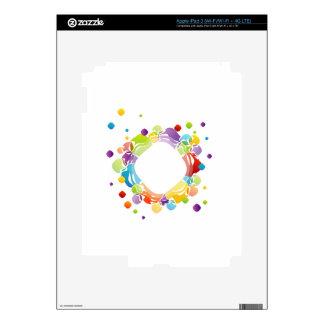 Elemento del diseño con el modelo de mosaico pegatina skin para iPad 3