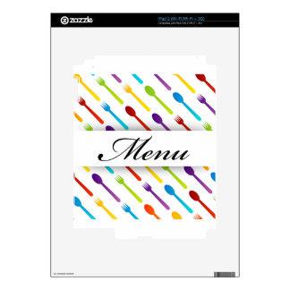 Elemento del diseño con las cucharas y la calcomanía para iPad 2