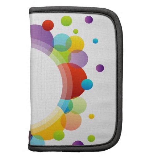 Elemento del diseño con los círculos coloridos planificadores