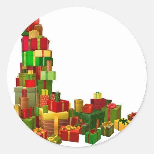 Elemento del diseño de la esquina de los regalos pegatinas redondas