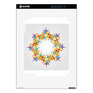 Elemento del diseño del fractal calcomanías para iPad 2