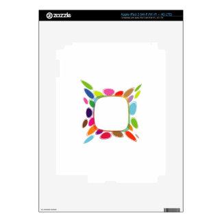 Elemento del diseño del fractal iPad 3 pegatinas skins