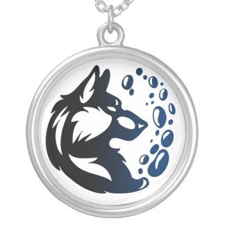 Elemento del lobo tribal - Agua Colgante Redondo