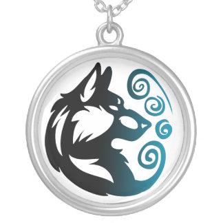 Elemento del lobo tribal - viento colgante redondo