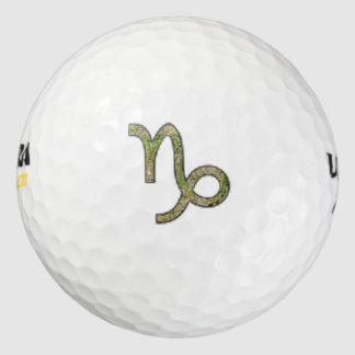 Elemento del símbolo del zodiaco del Capricornio Pack De Pelotas De Golf