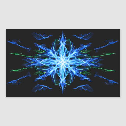 Elemento enérgico del agua de la geometría - rectangular pegatina