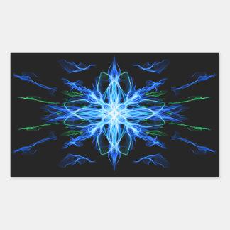 Elemento enérgico del agua de la geometría - pegatina rectangular