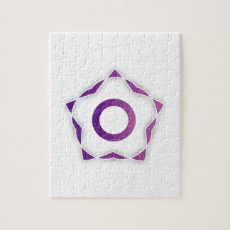 Elemento estilizado del diseño floral puzzles con fotos