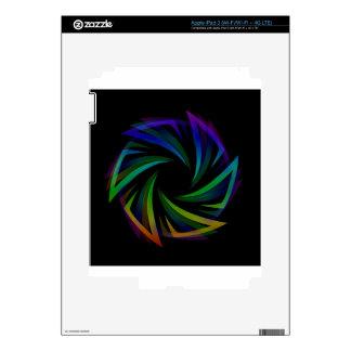 Elemento futurista abstracto del diseño iPad 3 pegatinas skins