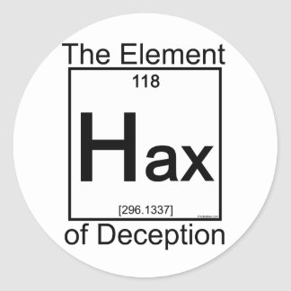 Elemento HAX Pegatina Redonda