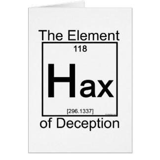 Elemento HAX Tarjeta De Felicitación